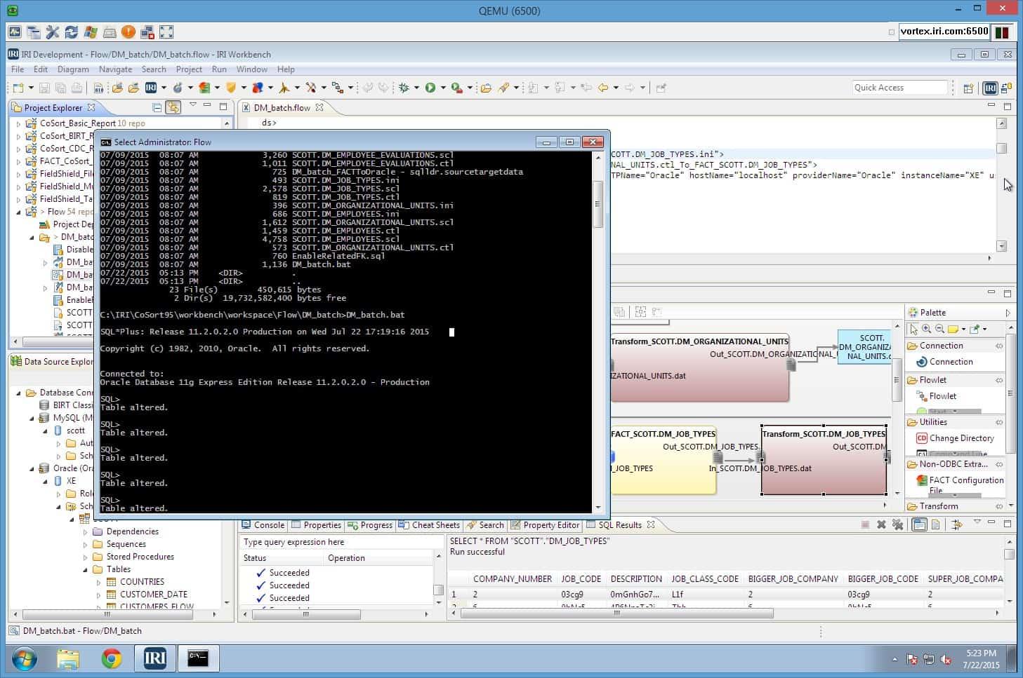 IRI Workbench Voracity GUI debug and deploy – JET-Software